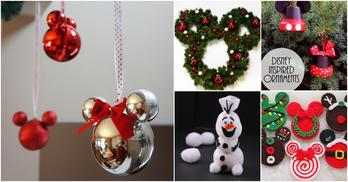 20 creative diy disney christmas ornaments anyone can do diy crafts