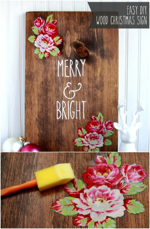 Hand Painted Merry & Bright Sign