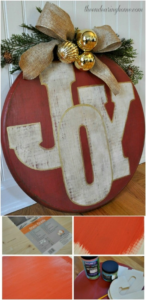 DIY Oversized Ornament Wooden Sign