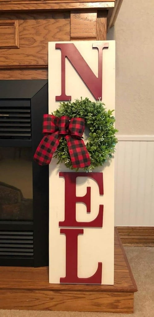 Easy Wooden Noel Porch Sign