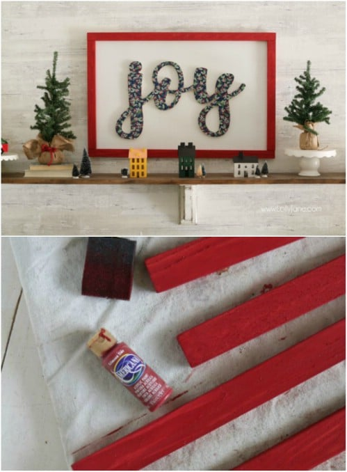 DIY Wooden Joy Cutout Sign