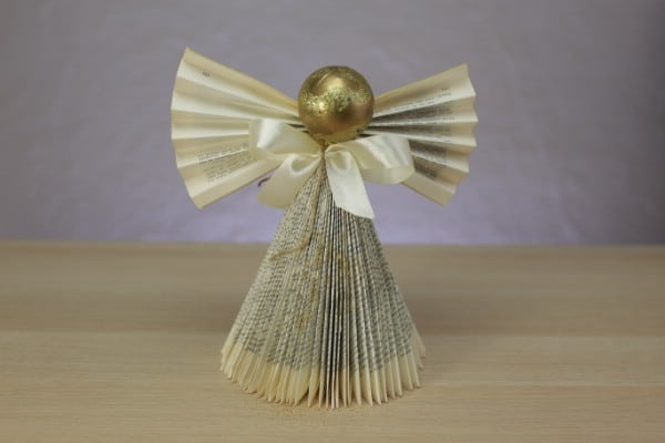 How to Turn an Old Book Into a Beautiful Christmas Angel