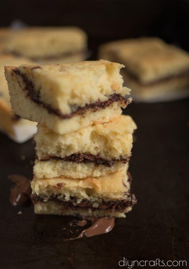 Nutella Stuffed Blondies Recipe