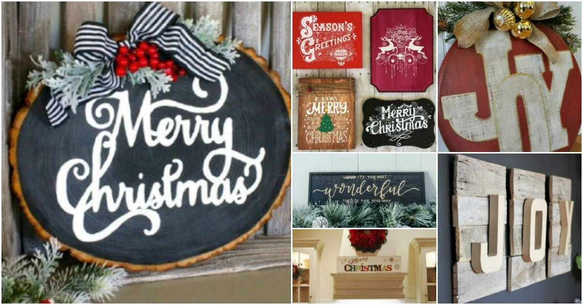 20 Unique Diy Wooden Signs For Christmas Decorating Diy Crafts