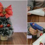 How to DIY a Miniature Christmas Tree Decoration {Video Tutorial}