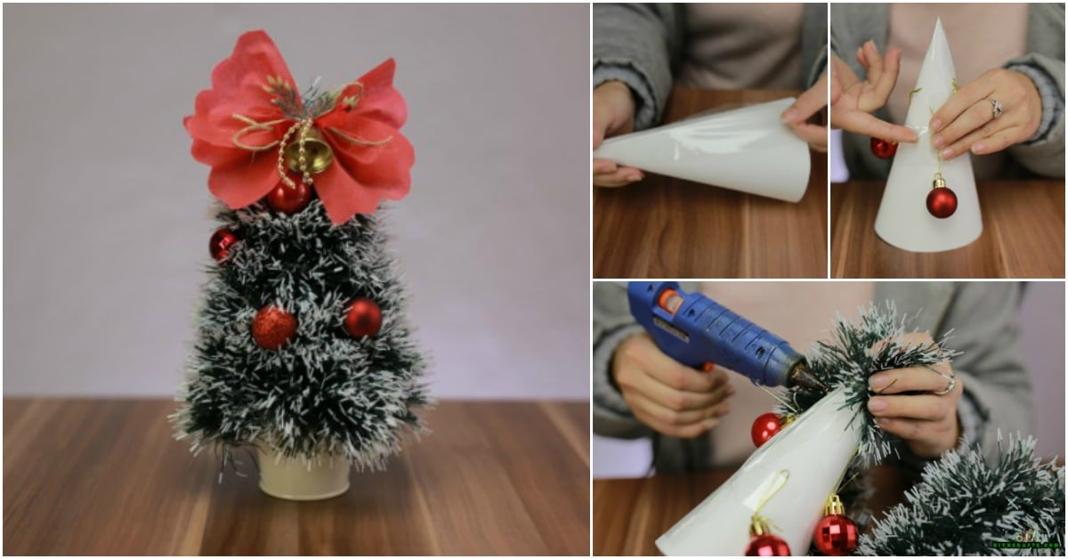 how to diy a miniature christmas tree decoration video tutorial diy crafts bloglovin