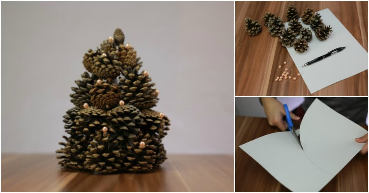 How To Make A Gorgeous Christmas Tree Out Of Pinecones