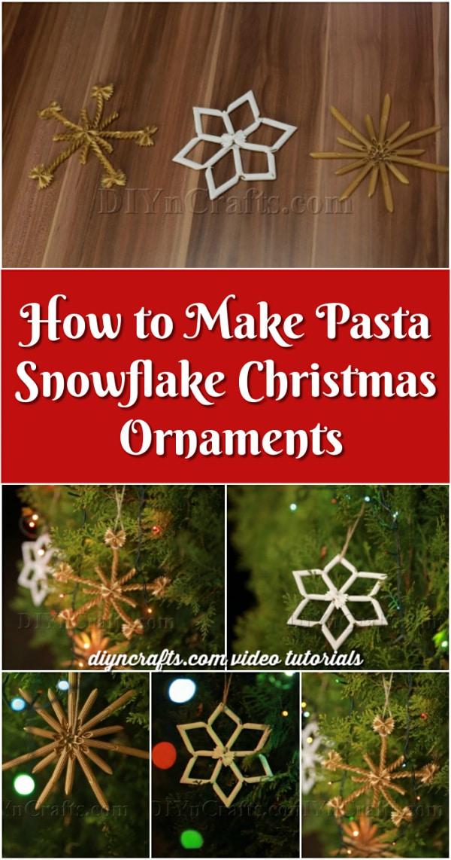 How to Make Pasta Snowflake Christmas Ornaments {Video Tutorial}