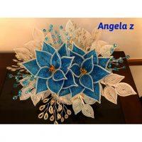 French Beaded poinsettia arrangement