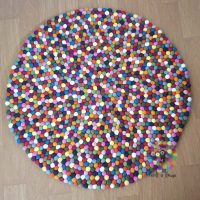 Felt Ball Rugs 20 cm - 250 cm Multicolored 15 Colors