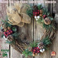 Home on the Farm Christmas Wreath.