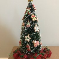 OOAK Dollhouse Miniature Christmas Tree Holiday Tree