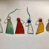 Stained glass angel Tiffany method Suncatcher Window hanging decoration