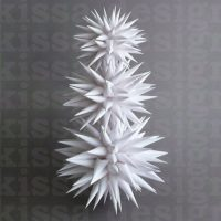 White Star Tree Topper Modern Paper Polish Star