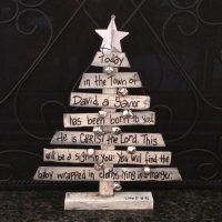Miniature Christmas Tree Centerpiece