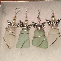 Angel Ornament, beach glass angel