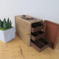 Vintage Photo Slide Storage Box, Carry Case, Photography, Slide Tray Caddy