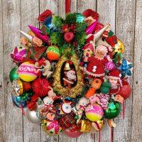 Lighted Ornament Wreath