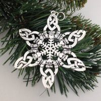CELTIC Claddagh Snowflake ORNAMENT