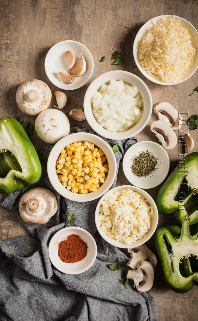 Ingredients for stuffed bell peppers