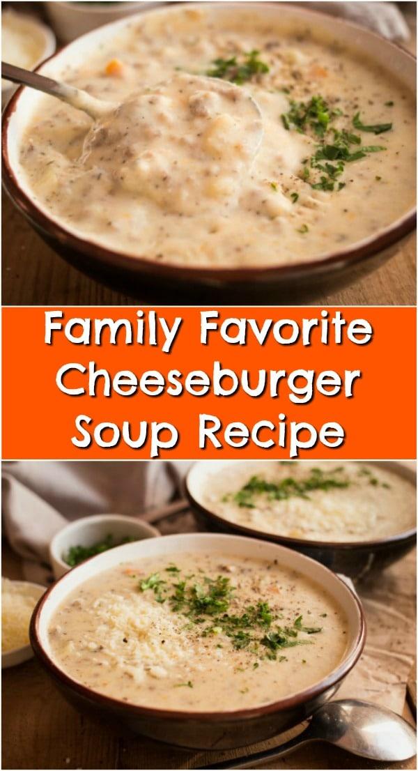 Family Favorite Cheeseburger Soup Recipe
