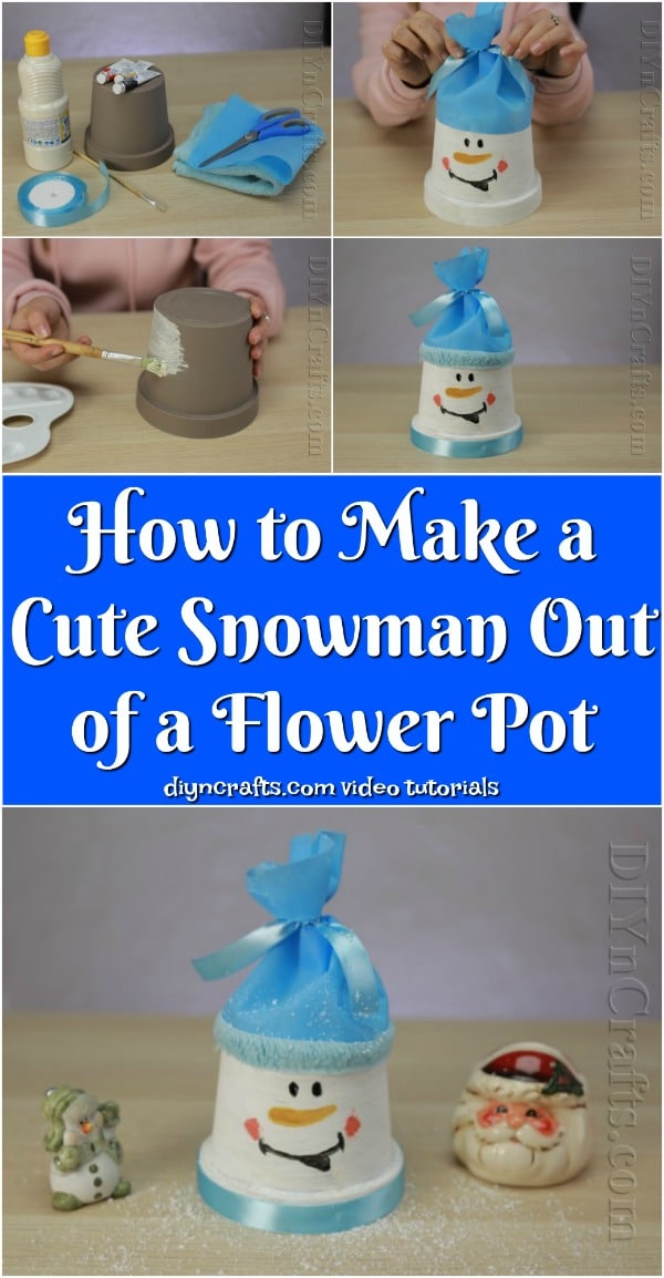 How to Make a Cute Snowman Out of a Flower Pot {Video Tutorial}