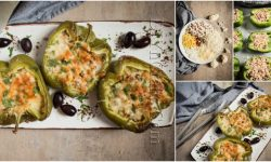 Cheesy Mushroom and Cauliflower Stuffed Bell Peppers Recipe