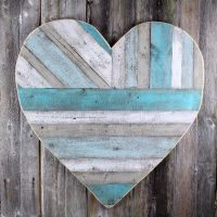 Rustic reclaimed wood heart
