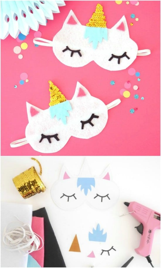 DIY No Sew Unicorn Sleeping Mask