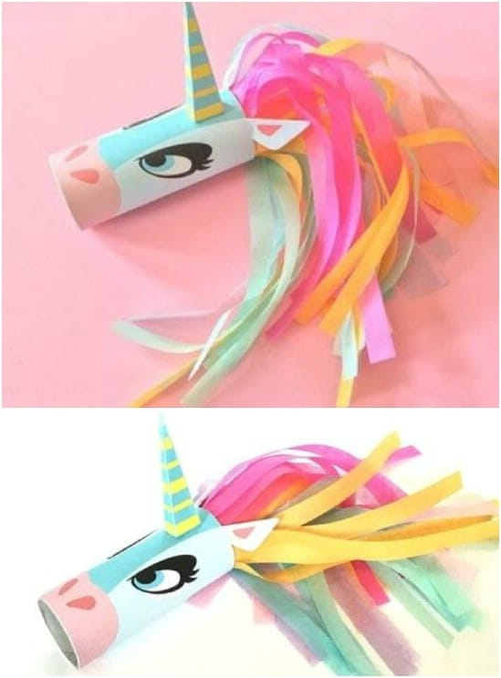 Simple Unicorn Toilet Roll Craft