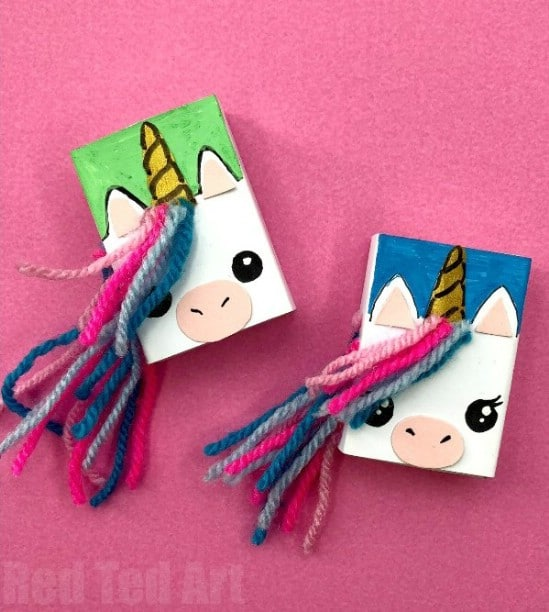 DIY Unicorn Matchbox Book