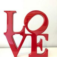 Large Hand Carved Philly Love Sign Inspired by Robert Indiana