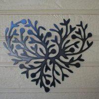 Metal heart wall art