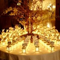 Set of 12 decorated candle mini lanterns