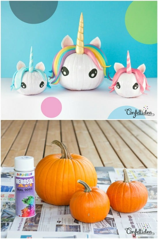 Creative DIY Unicorn Pumpkins