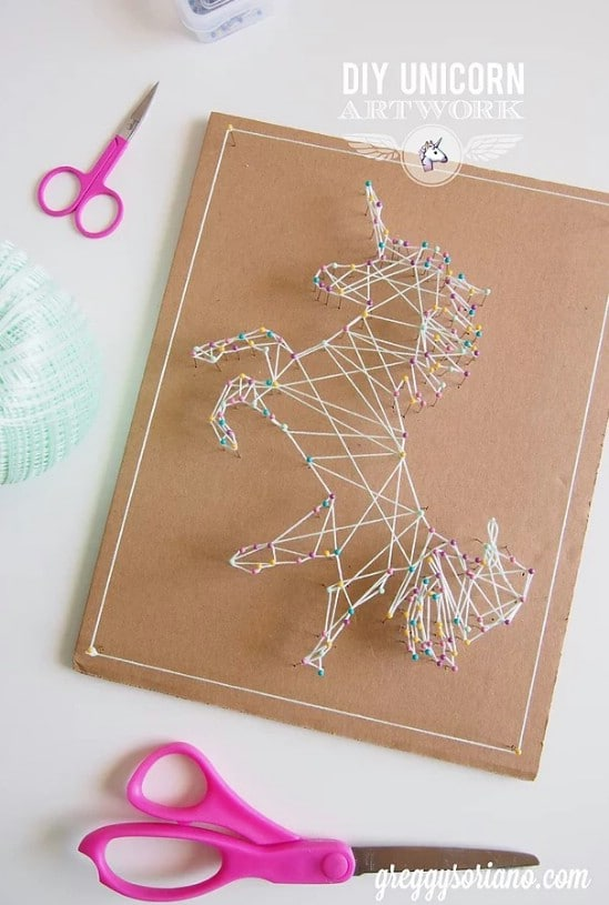 DIY Unicorn String Art