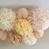 Tissue Paper Flowers set of 6