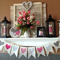 Valentines Day Burlap Banner Bunting