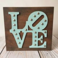 Love Wood Signs - Rustic Home Decor