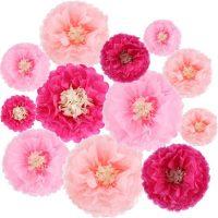 12 Piece Paper Flower Set-Tissue Paper-Paper Flowers