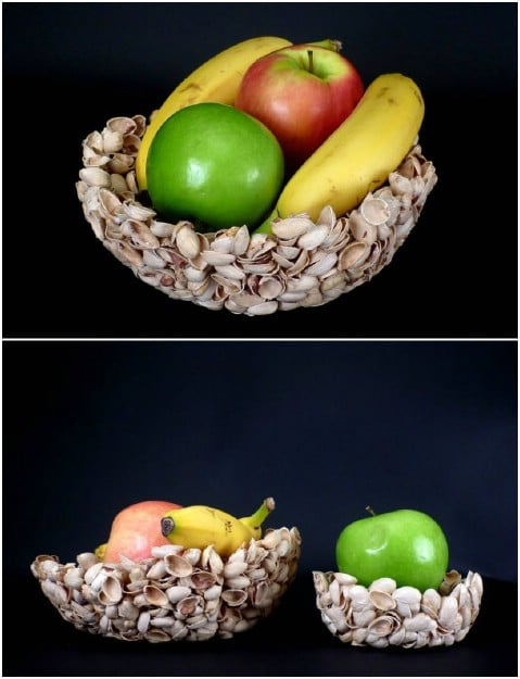 DIY Pistachio Shell Fruit Bowl