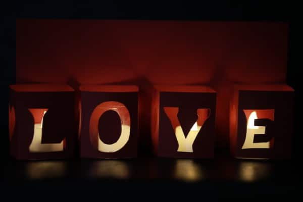 How to Make Beautiful LOVE Lights for Valentine's Day