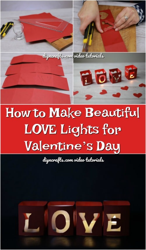 How to Make Beautiful LOVE Lights for Valentine's Day {Video Tutorial}