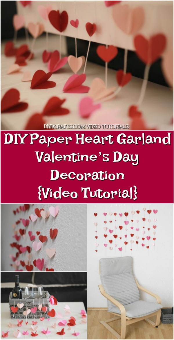 Diy Paper Heart Garland Valentine S Day Decoration