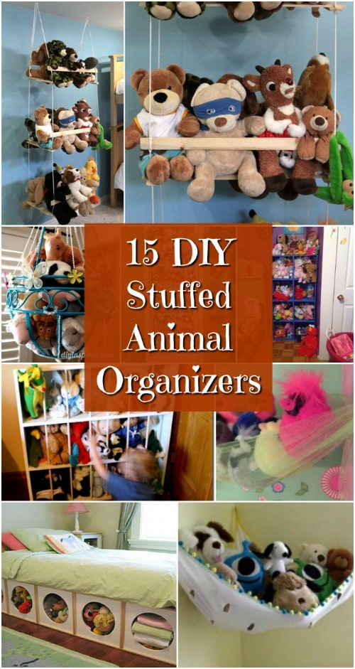 15 Creatively Simple DIY Stuffed Animal Organizers For Kids' Rooms