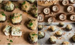 Cheesy Spinach Stuffed Mushrooms Recipe