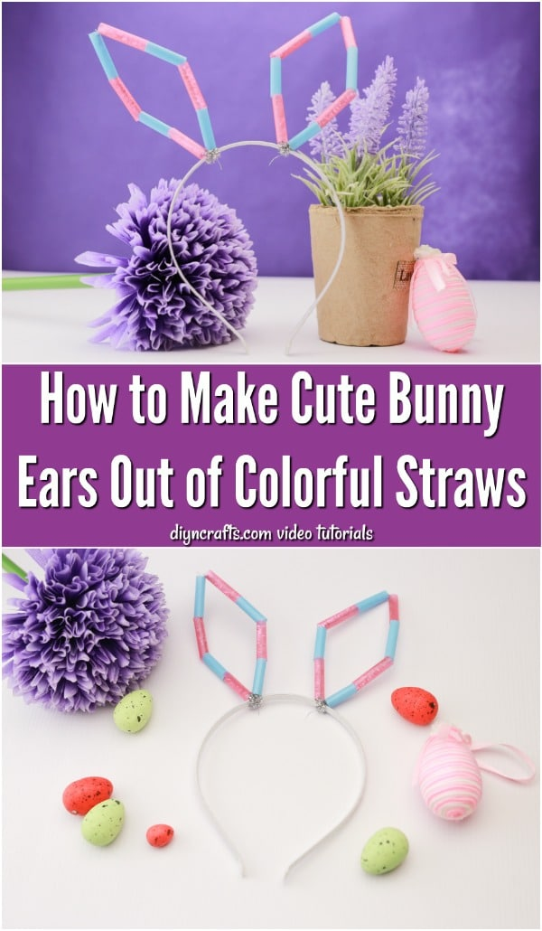 How to Make Cute Bunny Ears Out of Colorful Straws