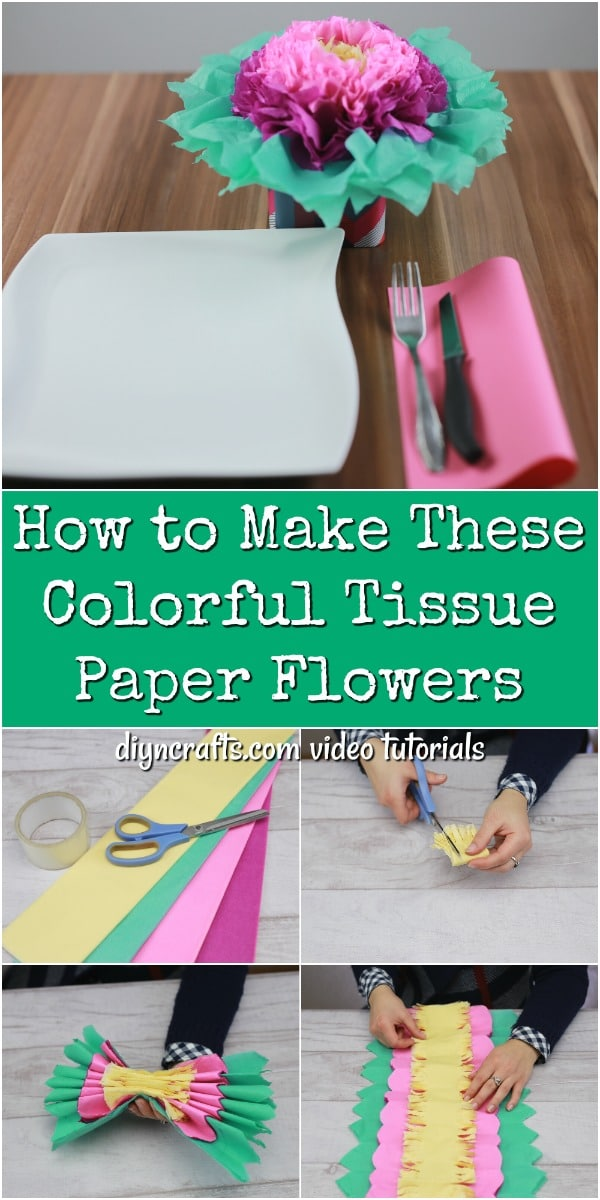How To Make These Colorful Tissue Paper Flowers Diy Crafts