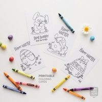 Printable Easter coloring card