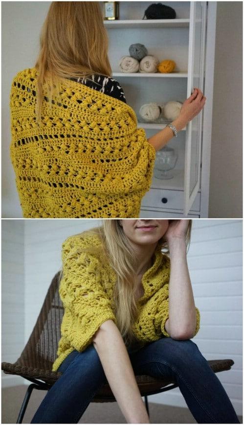 58d00653d29ef Gorgeous Crochet Slouch Cardigan